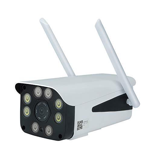 Bestlymood 3G 4G Tarjeta SIM CáMara de Seguridad CCTV 1080P HD WiFi CáMara IP Exterior IP66 Impermeable P2P Vigilancia de VisióN Nocturna por Infrarrojos Enchufe de EU