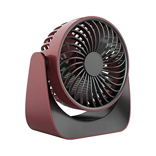 Ahagut Ventilador de Mano USB Ventilador Personal eléctrico Ventilador silencioso Giratorio 3 velocidades Ajustables Mini Ventilador para Actividades Interiores y Exteriores (Rojo sandía)