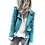 Jacke Damen übergangsjacke Bomberjacke Casual Damenjacke Bikerjacke Pilotenjacke Frauen Damen Retro Rivet Reißverschluss Oben Bomberjacke Casual Mantel Outwear von Innerternet