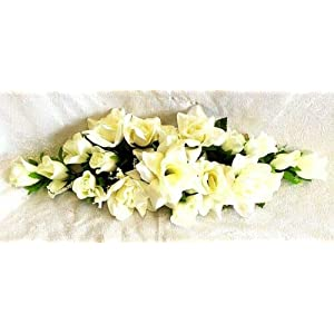 2 ft Artificial Roses Swag Silk Flowers Wedding Arch Table Runner Centerpiece Artificial Flower