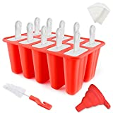 Popsicle Molds 10 Pieces ANGSOU Silicone Ice...