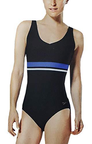 Speedo Ladies' One Piece Swimsuit (Speedo Black, XL)