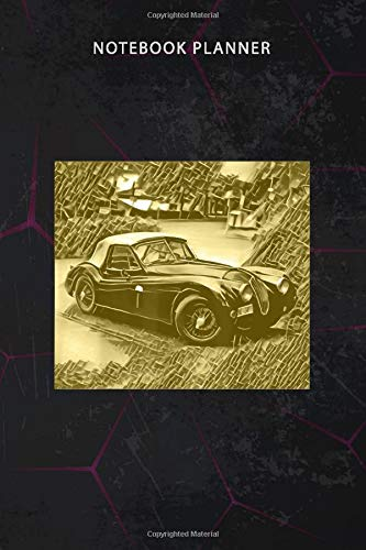 Notebook Planner Jaguar Oldtimer: Work List, 6x9 inch, Personal, To Do, To Do, 114 Pages, Financial, Finance