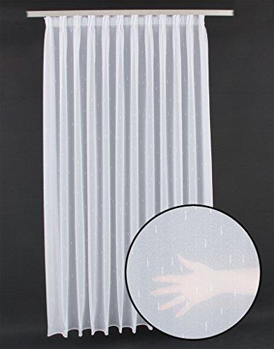 frankgardinen Striscia Decorativa per Tenda Verticale, su Misura, con Occhielli e Nastro Arricciato, Tessuto, Bianco, Faltenband 1:2,5