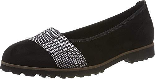 Gabor Shoes Gabor Casual, Ballerines, Noir (SCHW.Kombi(Cogn.) 40), 35.5 EU