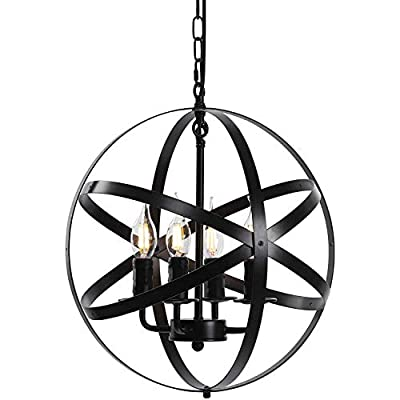 (US Fast Shipment) Industrial Pendant Light Vin...