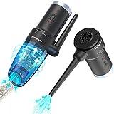OPOLAR Eléctrico Aire Comprimido & Aspirador de Coche Sin Cable 2en1, 8Kpa Mini...