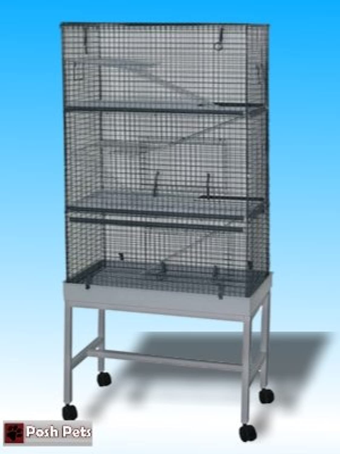 Ferret Cage or Mammal Triple Storey Cage and Stand