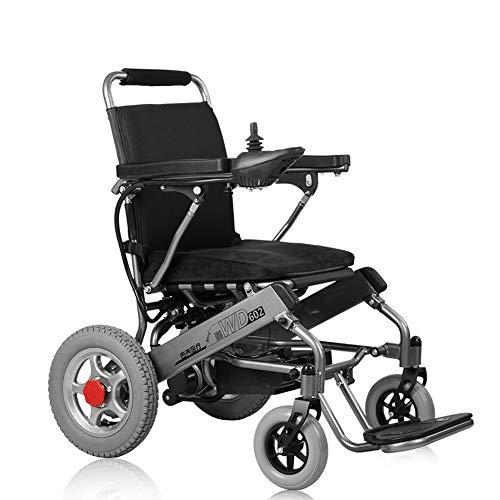 Rollstuhl Elektrisch faltbar, Elektrorollstuhl für Behinderte ältere Menschen, Elektrische Rollstühle, Elektrischer Faltrollstuhl, Reiserollstuhl mit feststellbremse, 6 Km/h, Bis Zu 20KM Reichweite