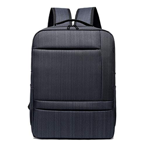 Einfache Business-Rucksack Herrenmode Freizeit Reiserucksack Multifunktions-USB-Computer Tasche Pendler Reiserucksack-Black