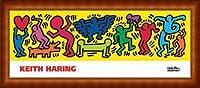 ポスター キース ヘリング Untitled 1987 額装品 ウッドハイグレードフレーム(ナチュラル)