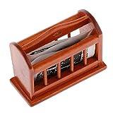 SM SunniMix 1:12 Puppenhaus Büromöbel - Miniatur Holz Bücherregal Zeitungsständer mit Zeitung -...