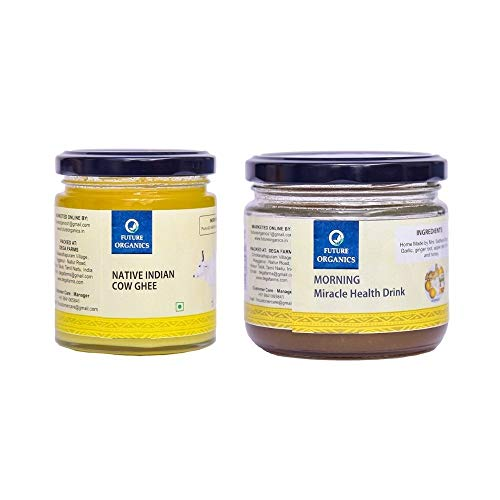 Native Cow Ghee 175 ml & Morning Miracle Drink 250 Grams - Made with Natural Organic Ingredients