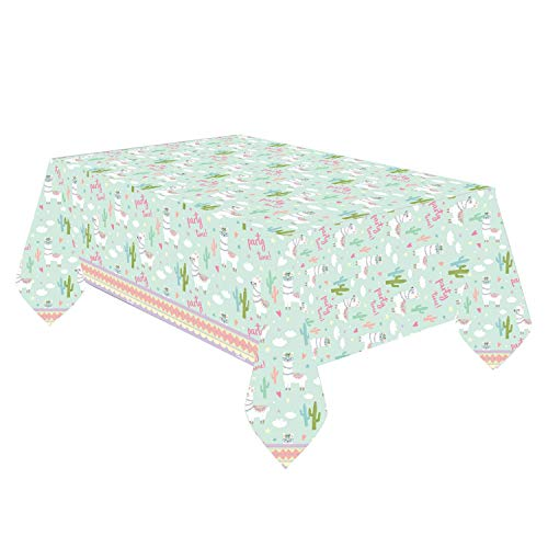 Neu: Tischdecke * Llama * für Kindergeburtstag und Motto-Party | Lama Südamerika Mottoparty Kinder Geburtstag Tisch Decke Deko Dekoration Table Cover spuckend Tier
