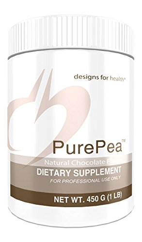 Designs for Health PurePea - Chocolate Pea Protein Powder, 20g Vegan Protein with Non-GMO Peas (15 Servings / 450g)