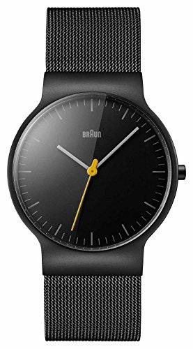 Braun Herren Analog Quarz Armbanduhr BN0211BKMHG