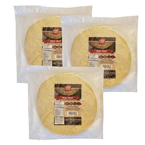 Low Carb Pizza Crust, 8 oz., Great Low Carb Bread Company (3 Pack)