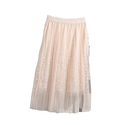 Allshope 2018 Summer New Women Ladies Elegant Gauze Skirt Mesh Pleated Skirt 4 Colors