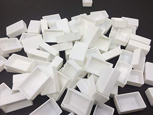 Acuarela Pintura Pan Plástico Vacío,50 Pcs Acuarela Completo Vacío Moldes Watercolor Pans Caja de Pintura de Acuarela de Media Bandeja