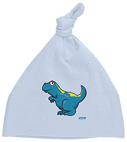 Hariz - Gorro para beb con diseo de dinosaurios y dinosaurios (incluye tarjeta de regalo) azul Dosel azul claro.