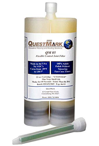 QuestMark 5831 Polyurea Flexible Concrete Joint and Crack Filler, Gray, Tube