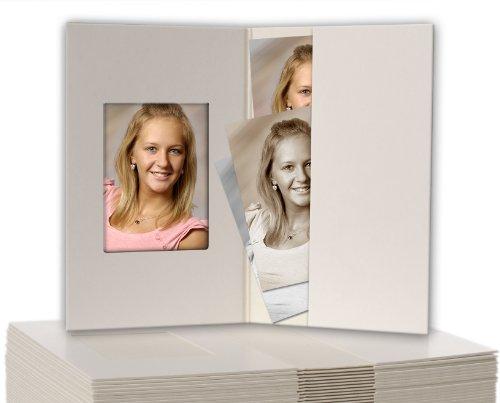 100 Stück Passbildmappen weiss-matt für Passfotos 3,5 x 4,5 cm