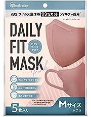 アイリスオーヤマ マスク 不織布 カラーマスク 立体 個包装 DAILY FIT MASK ふつうサイズ 5枚入 RK-D5MP ピンク