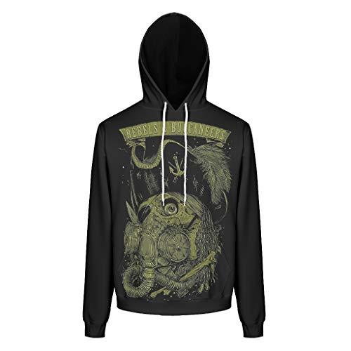 O2ECH-8 Heren hoodie mannen vrouwen biochemie schaal patroon groot oog capuchon pullover losse comfort jas