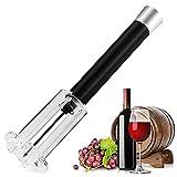 Sacacorchos a presión de vino, juego de 4 piezas, juego de regalo de sacacorchos para vino, sacacorchos neumático, sacacorchos manual para vino, sacacorchos portátil (tubo de plástico)