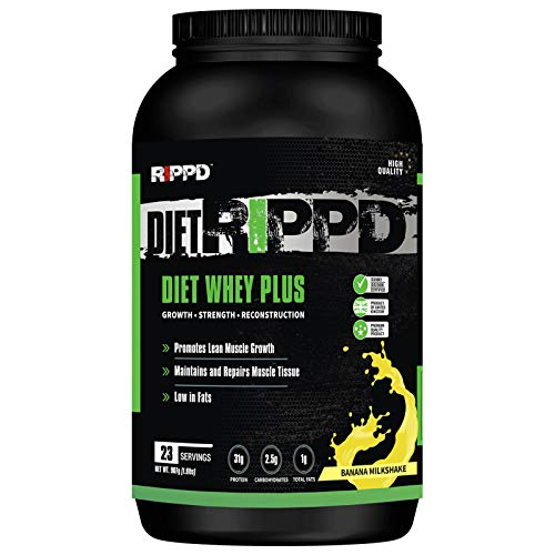 RIPPD DietRIPPD Lean Diet Fuel 907g / 2lbs Ultralean Weight Loss Control Meal Replacement Shake Protein Powder (Banana Milkshake)