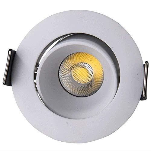 Foco empotrable giratorio empotrable de 3 W LED, lámpara de pared de lavado de panel redondo, iluminadores descendentes de ahorro de energía con clasificación de incendio, accesorios de iluminación pa