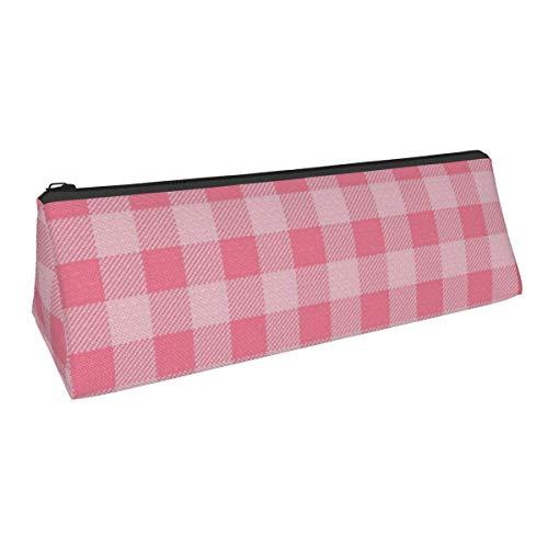 Buffalo Plaid Pink Woodland - Colección de guardería para niñas, portátil, elegante, para bolígrafos, lápiz, papelería, bolsa, bolsa de cosméticos, para estudiantes de secundaria, colegio,