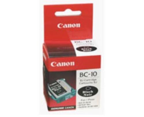 Canon BC-10 Black Original Negro - Cartucho de tinta para impresoras (Original, Tinta a base de pigmentos, Negro, Impresión por inyección de tinta, 3000 hojas, BJ-30, BJC-50, BJC-55, BJC-70, BJC-80, BJC-85)