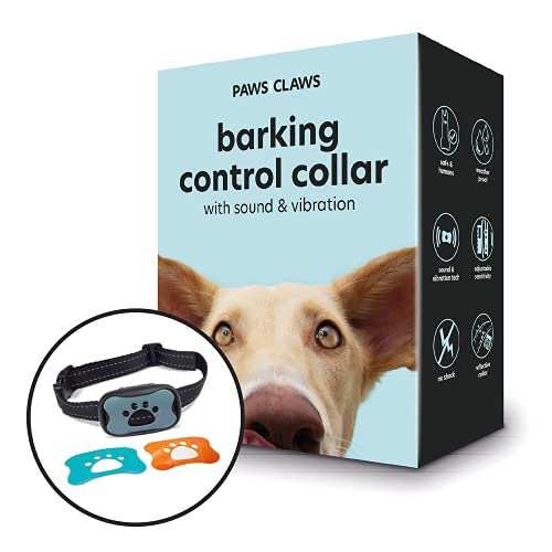 Paws and Claws 3 In 1 Anti Barking Dog Collars to Stop Excessive Dog Barking for Any Breed and Dog Sizes 15lbs To 150lbs (Blue, Grey and Orange)