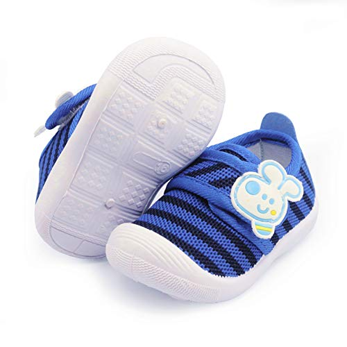 WILLFUN Toddler Squeaky Shoes Baby Boy Girl First-Walking Sneakers Infant Soft Sole Little Kid Trainers for 0-3-Year-old First Walkers