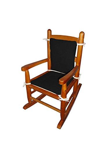 Baby Doll Bedding Suede Junior Rocking Chair Cushion, Black