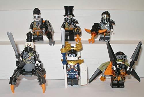 Lego Ninjago - Juego de 6 figuras de cazador de dragón de hierro barón samurai X Heavy Metal Jet Jack Nitro cazador sin patas con armas accesorios y equipo