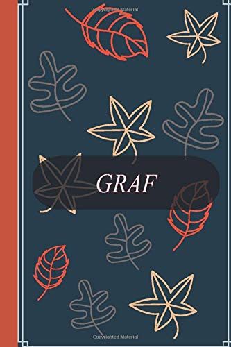 """Graf: notebook journal - Graf Personalized Notebook a Beautiful 100 lined pages, 6"""" x 9"""" Notebook / Journal Gift- Diary to Write, work: Graf Personalized notebook"""