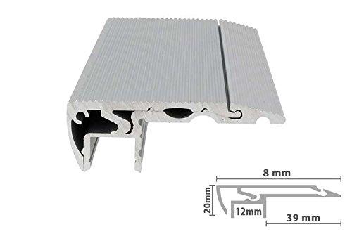 Profilo Canalina Barra Alluminio Led Per Scale Gradini Passatoie Calcestruzzo Antiscivolo 1 Metro
