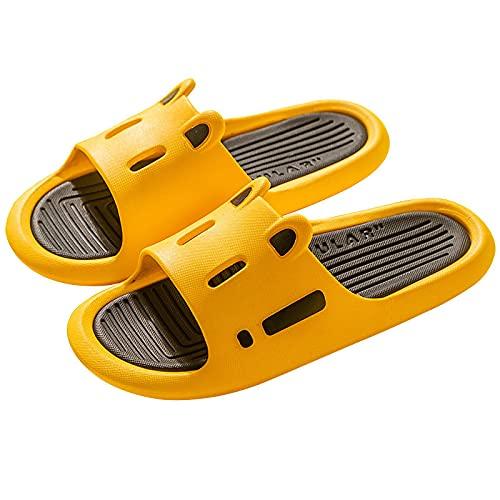 NUGKPRT ciabatte infradito,Shower Sandal Slippers Quick Drying Bathroom Thick Bottom Outdoor Slide Shoes Women Men Home 10 Yellow