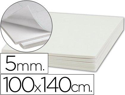 Liderpapel - Carton pluma adhesivo 1 cara 100x140 cm espesor 5 mm (5 unidades)