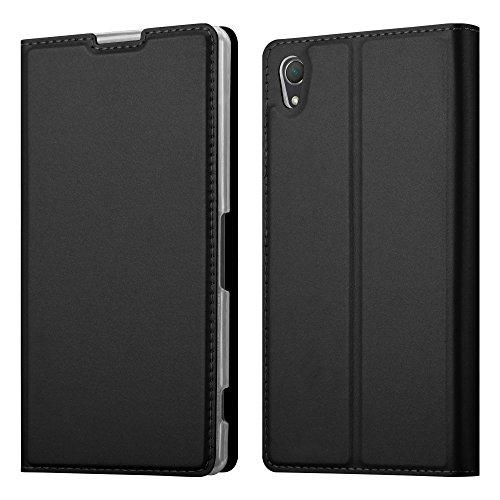 Cadorabo Funda Libro para Sony Xperia Z2 en Classy Negro - Cubierta Proteccíon con Cierre Magnético, Tarjetero y Función de Suporte - Etui Case Cover Carcasa