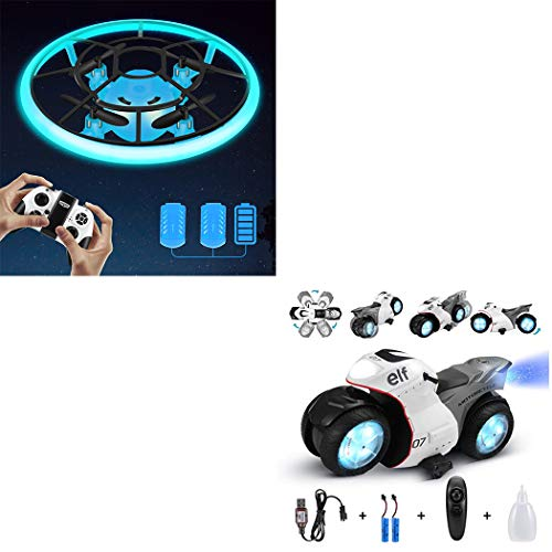 Combination Package,Mini Drone for Kids(Blue),RC Motorcyle for Kids(White)