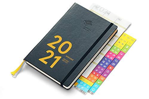 weekview compact extended 2021 - der clevere Wochenplaner! von Okt 2020 bis Mrz 2022 / A6+ (12x18cm)