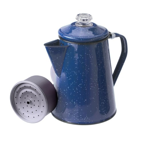 GSI Outdoors 12 Cup Enamelware Percolator Coffee Pot for Campsite, Cabin, RV, Kitchen, Groups, Backpacking