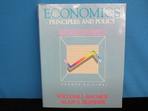 Microeconomics Economics Priniciples and Policy