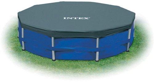 Intex Round Pool Cover - Poolabdeckplane - Ø 366 cm - Für Metal und Prism Frame Pool