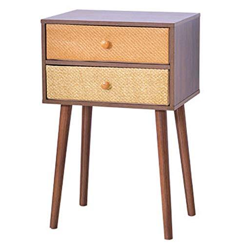 Mini Table Basse côté Salon/Coin Salon/Salon, tiroir de Rangement Multicouche en Tissu pour Table de Chevet, Deux étages, 40 × 30 × 62.8cm