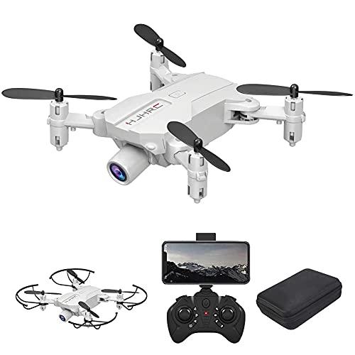 Drone con cámara Drone Optical Flow Positioning RC Quadcopter con cámara 4K HD, modo sin cabeza de retención de altitud, FPV plegable Drones Wifi Video en vivo 3D Flips 6Axis RTF Easy Fly Stea