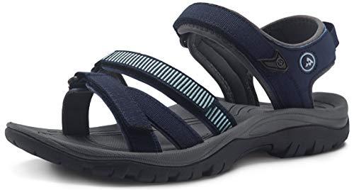 ATIKA Sandalias de senderismo para mujer con sistema de dedos cerrados, ligeras sandalias deportivas adecuadas para caminar, trailing, senderismo, zapatos de agua en verano, color, talla 38 EU